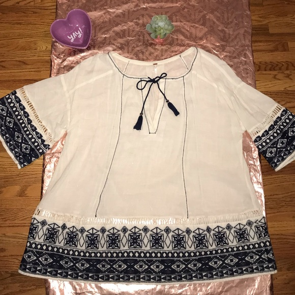 Free People Dresses & Skirts - Free People Embroidered Tunic Dress